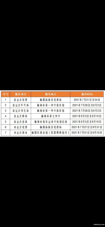 榆林招募省十七运资格赛及市十五运比赛项目志愿者公告(44人)